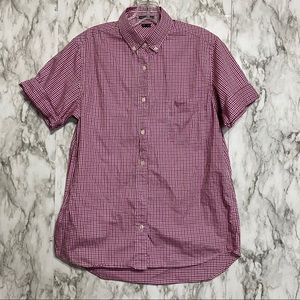 Theory Short Sleeve Gingham print Button Down